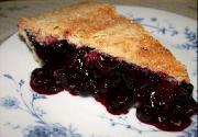 Spanguolių ir mėlynių pyragas