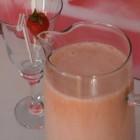 Braškių gėrimas su pienu