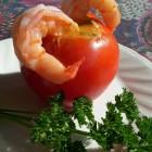 Pomidorai, įdaryti krevetėmis