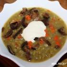 Perlinė sriuba su grybais