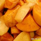 Bulvės su obuoliais