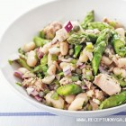 Tuno ir šparagų salotos
