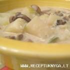Tiršta daržovių sriuba su grybais