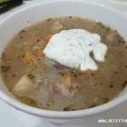 Raugintų kopūstų ir grybų sriuba